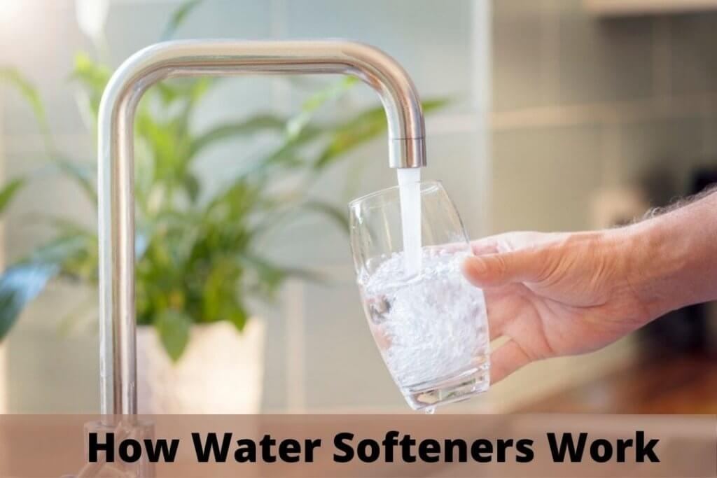 image of how water softeners work in the house